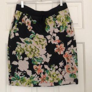 Anthropologie Floral pencil skirt
